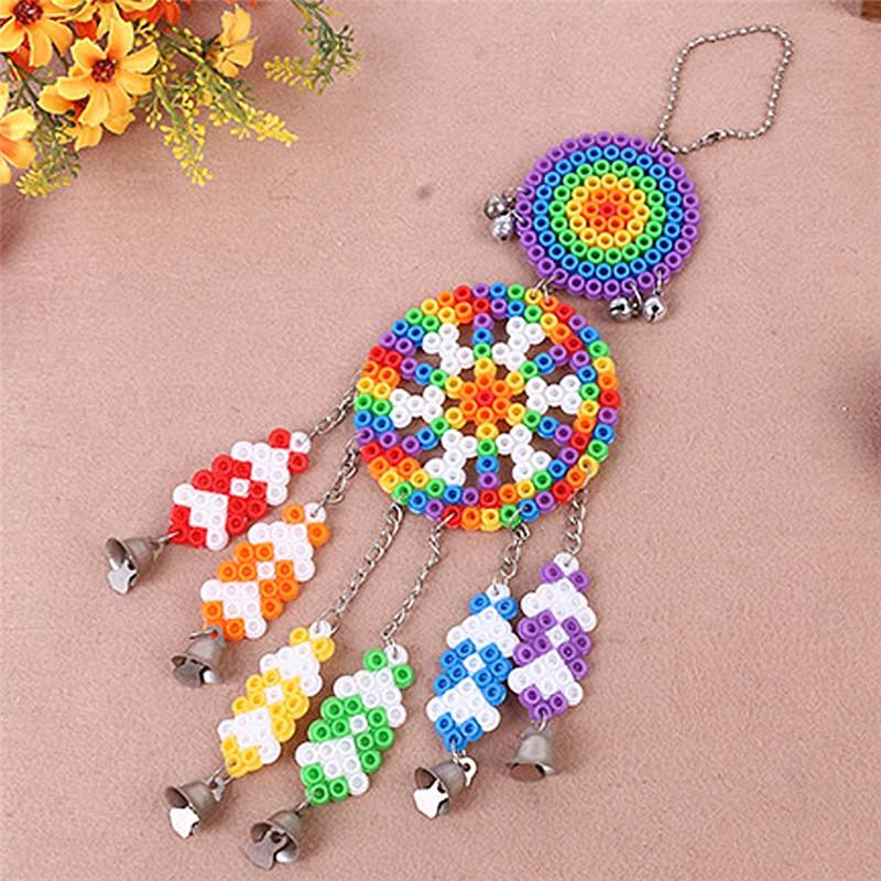 DIY Dream Catcher Windbell Kit Perler 5mm Fuse Beads Kid Craft Toy Decor - Photo: 3