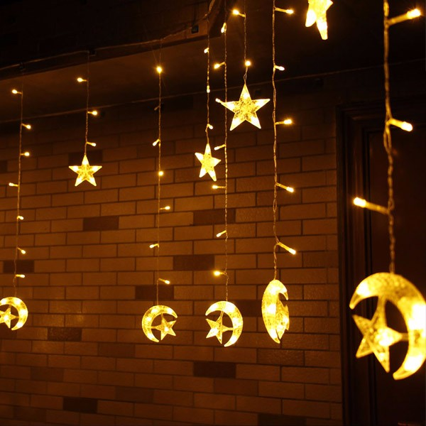 Star Moon String Lights : LED String Star Moon Curtain Light (end 5/25/2018 12:15 PM)