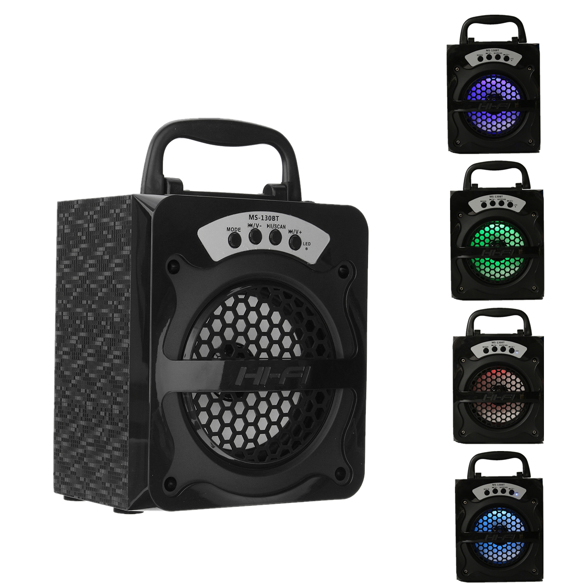 MS-130BT Bluetooth Wireless Portable Speaker Super Bass