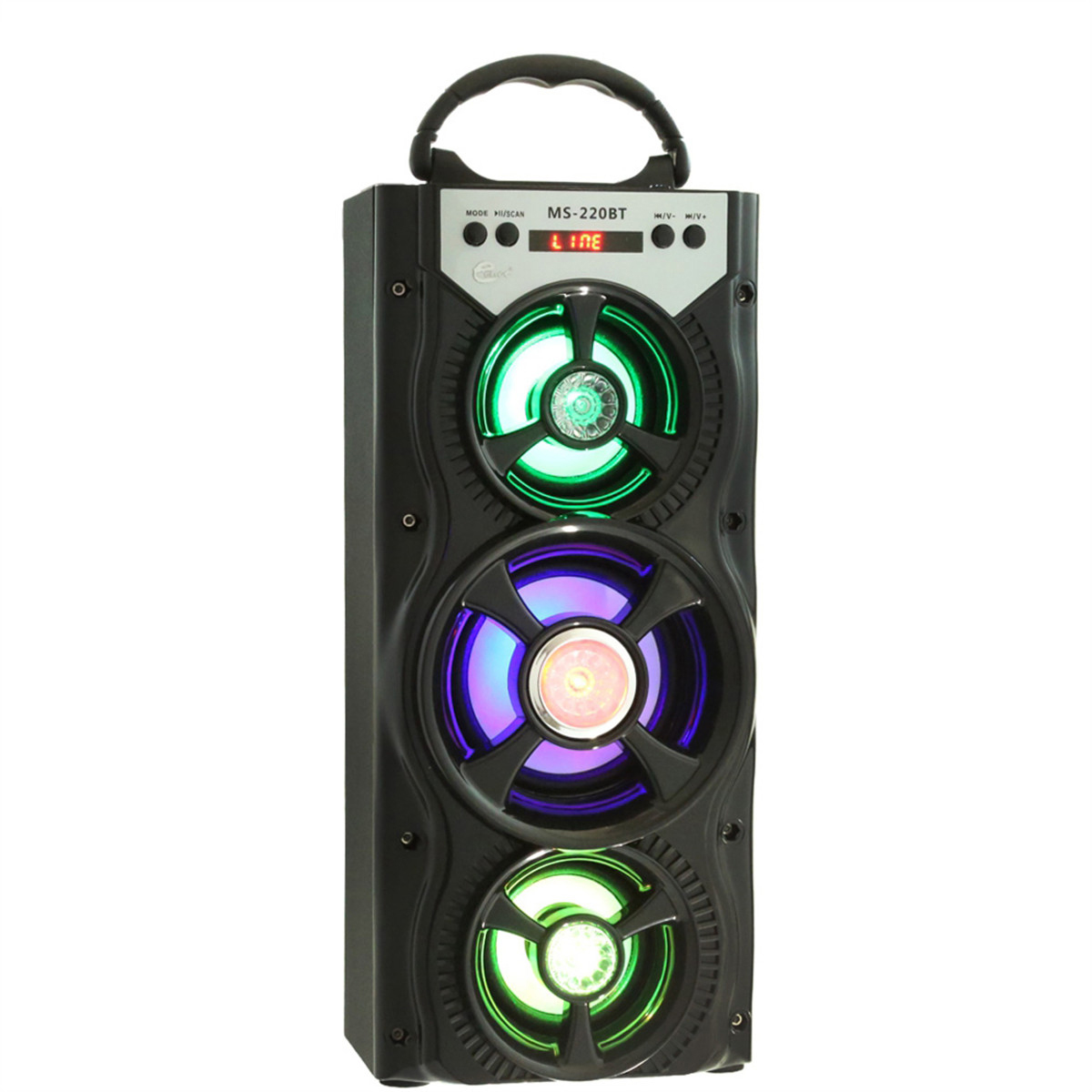 MS-222BT Wireless Bluetooth Square Dancing LED Speaker