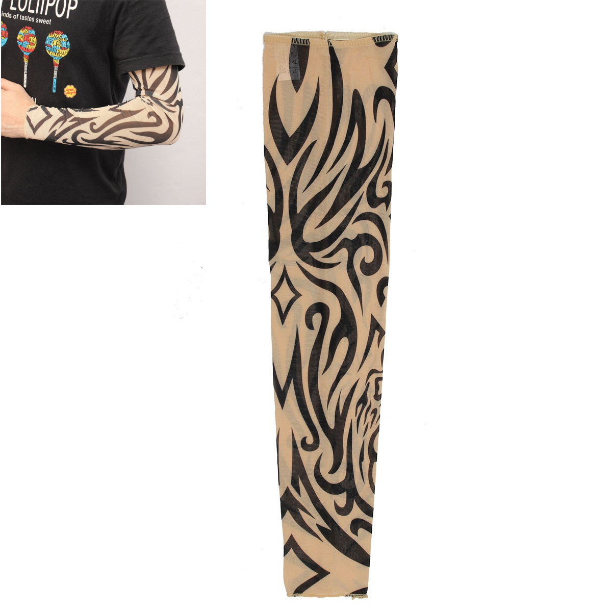 1pc Tattoo Sleeves Arm Stocking Nylon Spandex Stretchy