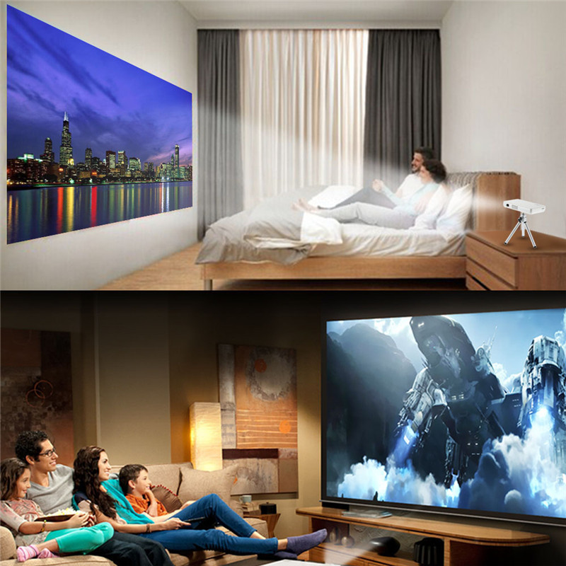 GP1S DLP 1080P HD LED Portable Projector HDMI USB AV SD Home Cinema Beamer