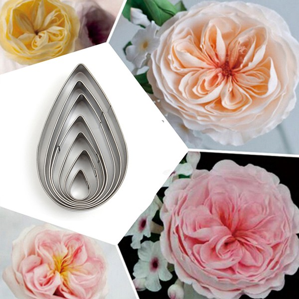 Buy Rose Petal Stainless Steel Cookie Cutter Mold Biscuit Fondant Cake Decorating Tool