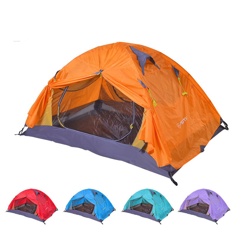 Outdoor Camping 2 Person Tent Sunshade Double Layers PU
