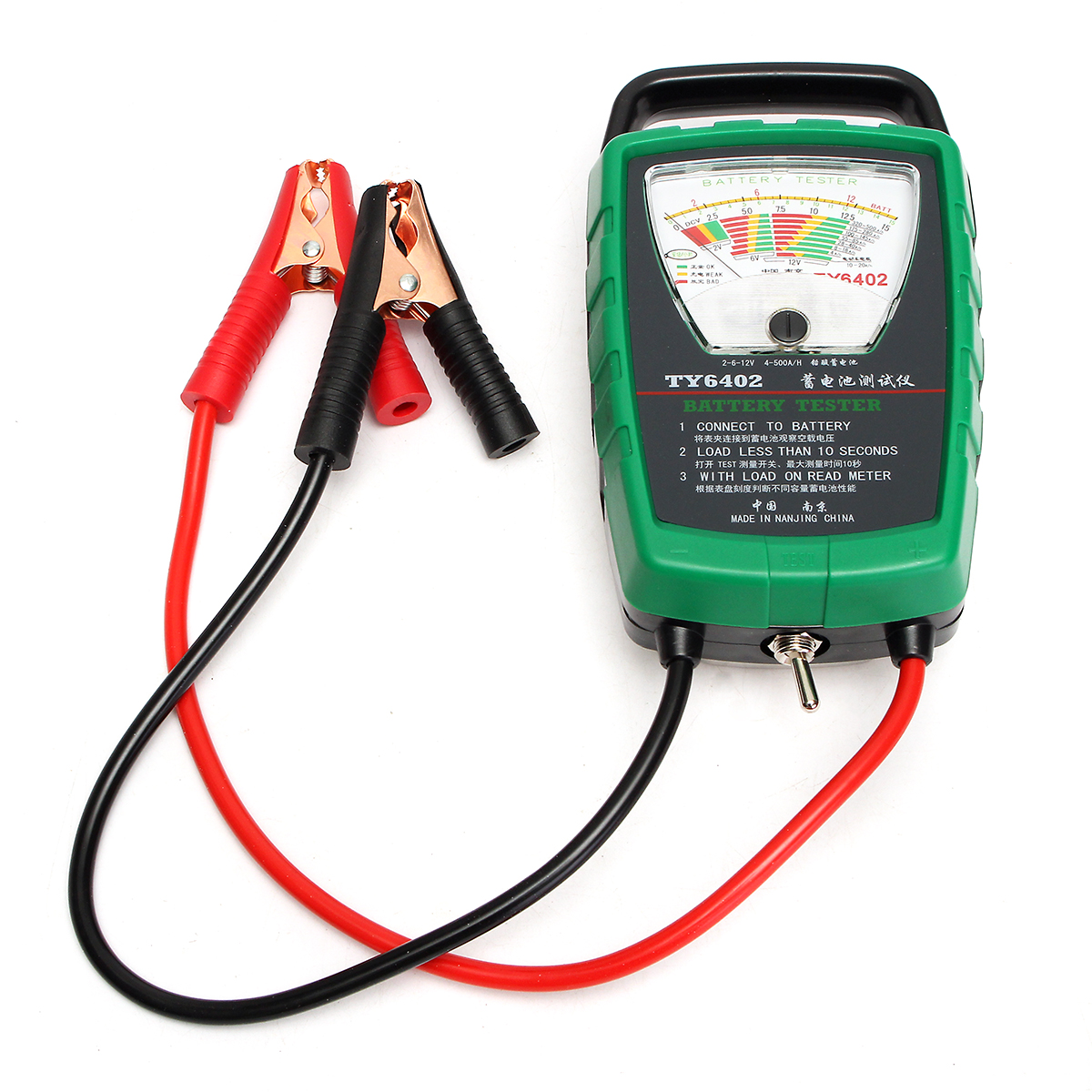 TY-6402 Car Battery Load Tester Analyzer 2V/ 6V/ 12V Battery 4-500Ah Capacity