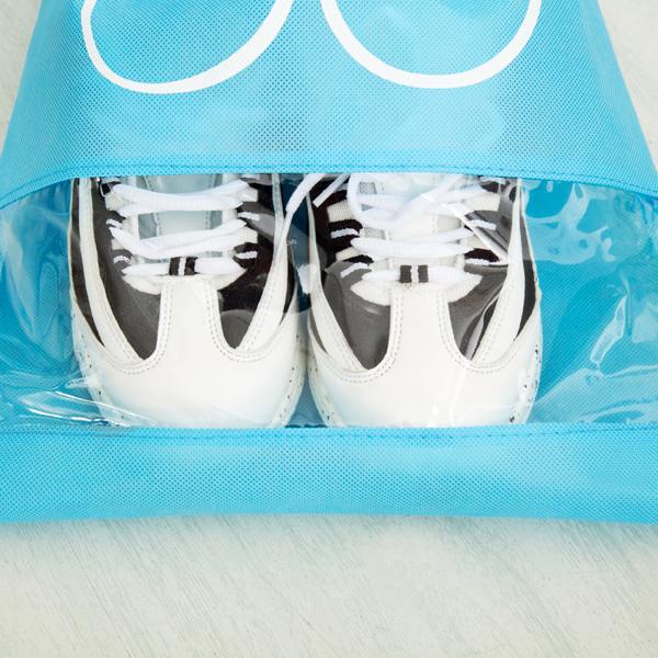 10 Pcs Drawstring Shoes Storage Bags Portable Non-Woven Travel Suitcase