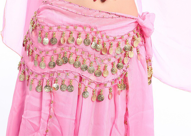 3 Row Belly Dance Heup Rok Sjaal Riem Taille Band Dance Performance Supplies