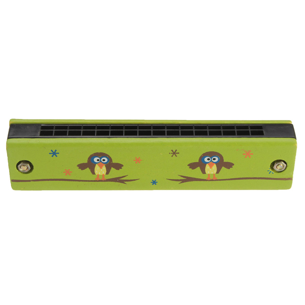 Wooden 16 Hole Harmonica Kids Musical Instrument Mouth Organ Educational Toy - Photo: 5