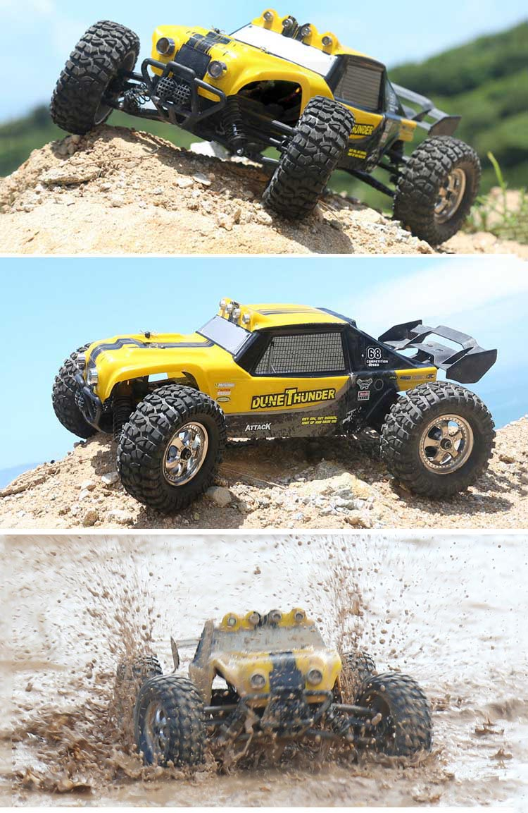 HBX 12891 1/12 4WD 2.4G Waterproof Hydraulic Damper RC Desert Buggy Truck with LED Light - Photo: 1