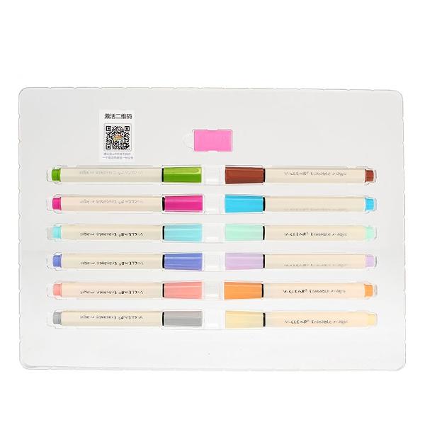 12 Colors Magic Invisible Watercolor Pen Temperature Change Pen AR Edible Pen Disappearing Pen