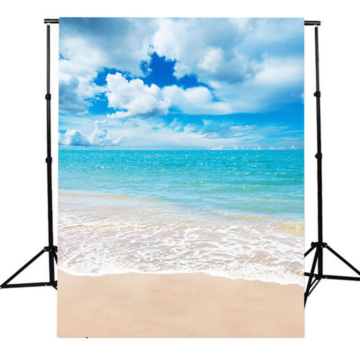 5x7Ft Vinyl Beach Blue Sky Summer Studio Photography Ba