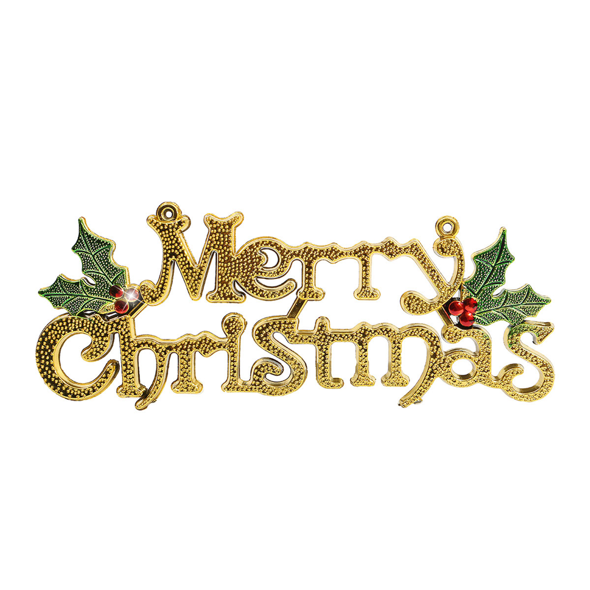 Merry christmas words ornament pendant wall door xmas tree for Decoration 4 christmas