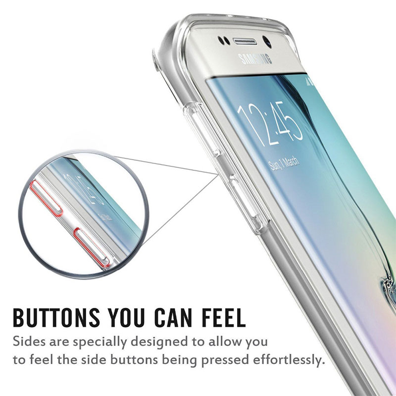Gradient 색깔 360° Front And Back Full Protective TPU Cover Case for 삼성 Galaxy S7 Edge
