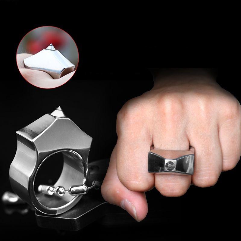 Tungsten Steel Self Defense Supplies Ring Women Men Saf