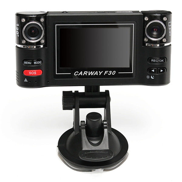 "Buy 2.7 inch"" HD 1080P Car Dual Lens Dash DVR Video Recorder Night Vision Camera Rear Cam"""