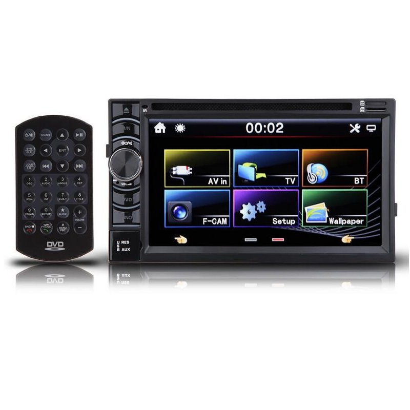 double 2 din 65 inch in dash stereo car dvd cd player