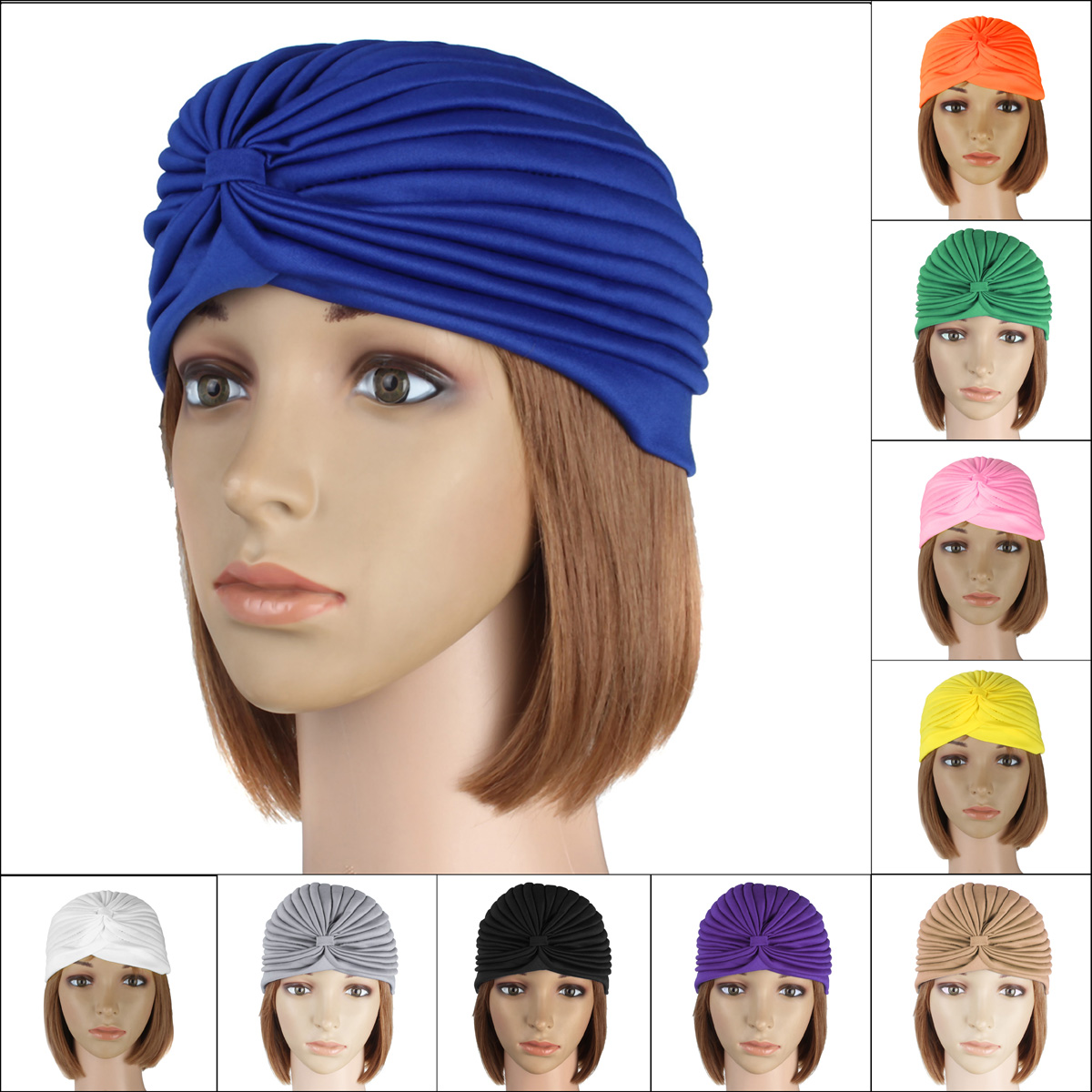 Delivery Mummy Puerperal Turban Chemo Costume Full Head Cover Wrap Hats Cap Hair Head Loss Scarf