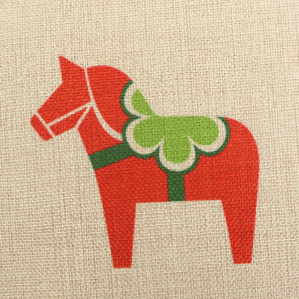 Colorful Christmas Horse Bird Pillow Case Square Home Sofa Car Cushion Cover