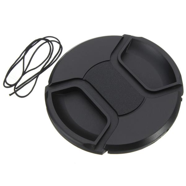 Buy 77mm Center Front Lens Cap Hood Cover Snap-on With String For Nikon Canon Sony Sigma Tokina Tamron