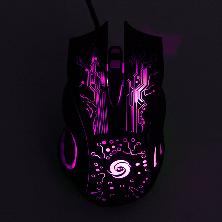 6 Buttons 3200DPI LED Automatically Transform Optical Wired Gaming Mouse for Pro Gamer