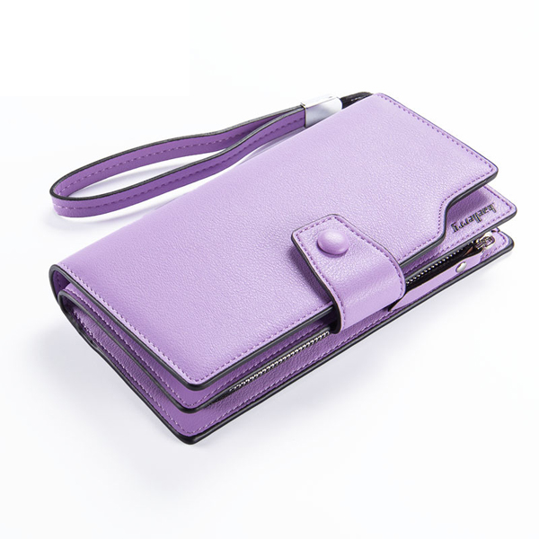 Hasp Long Wallet Candy Color Clutches Bags Purse Card Holder Coin Bags 5.5'' Phone Bags For Iphone 7