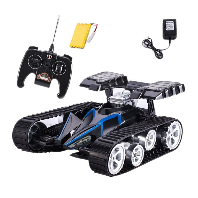 RC Tank Caterpillar Infrared Battle Remote Control Rotate Fighting Car