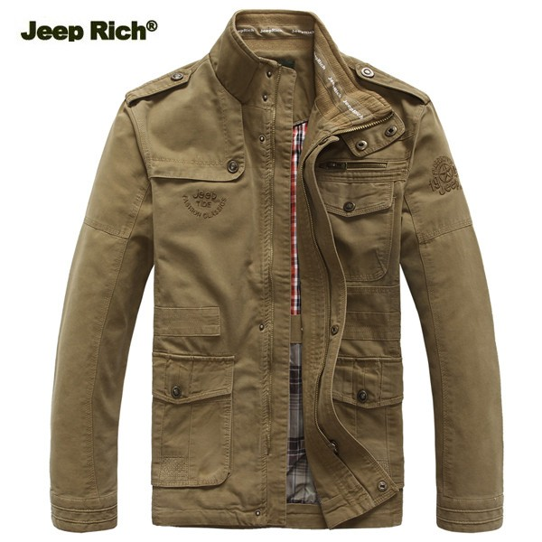 jeep rich size s 5xl men outdoor autumn cotton blend zipper warm coat jacket outwear at banggood. Black Bedroom Furniture Sets. Home Design Ideas