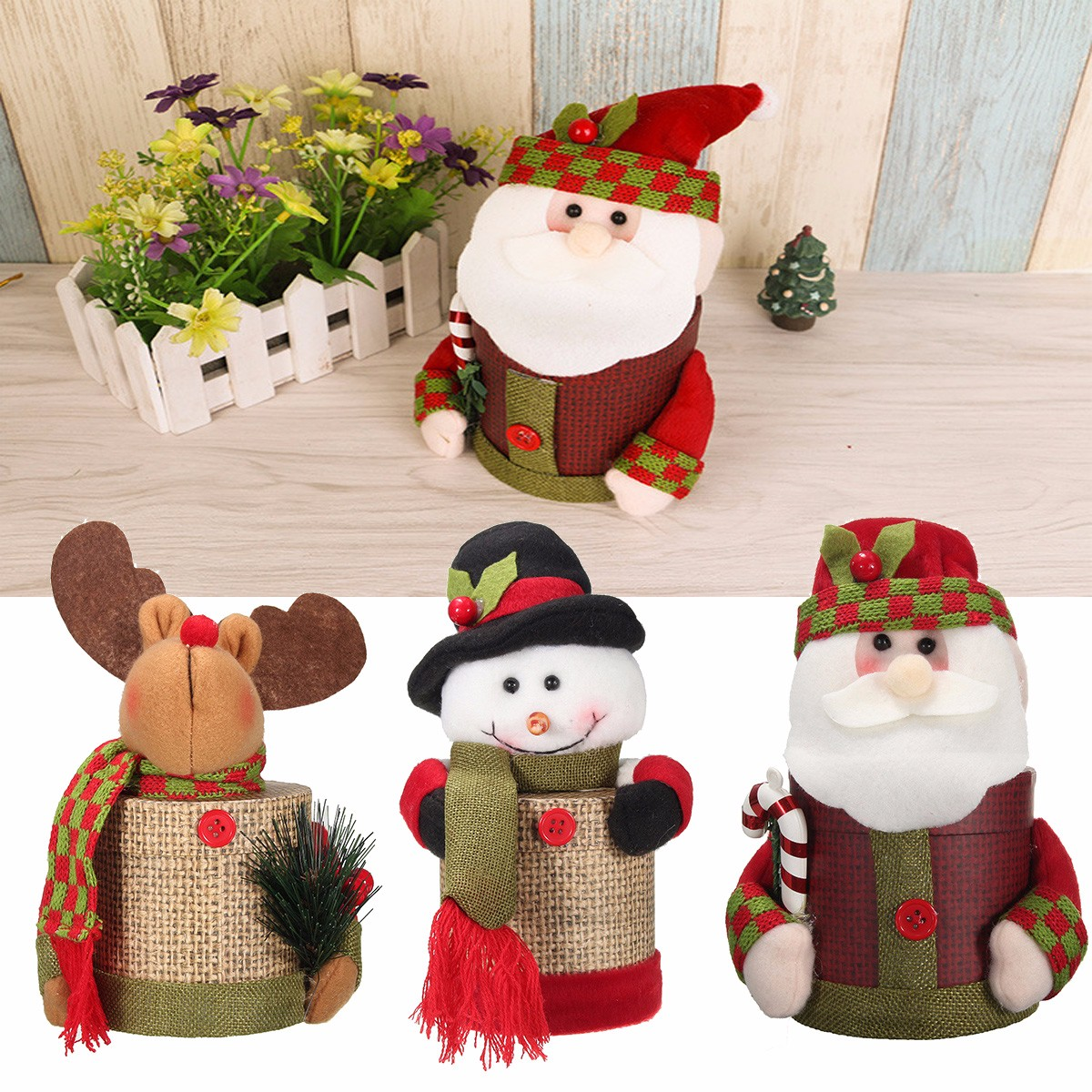 Santa Claus / Snowman / Elk Santa Claus Gift Box Christmas Candy Box Decorations - Photo: 1