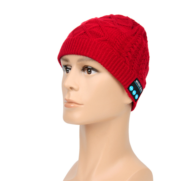 Bluetooth Music Hat With Built-in Stereo Speakers Hands-free Winter Warm Knitted Cap