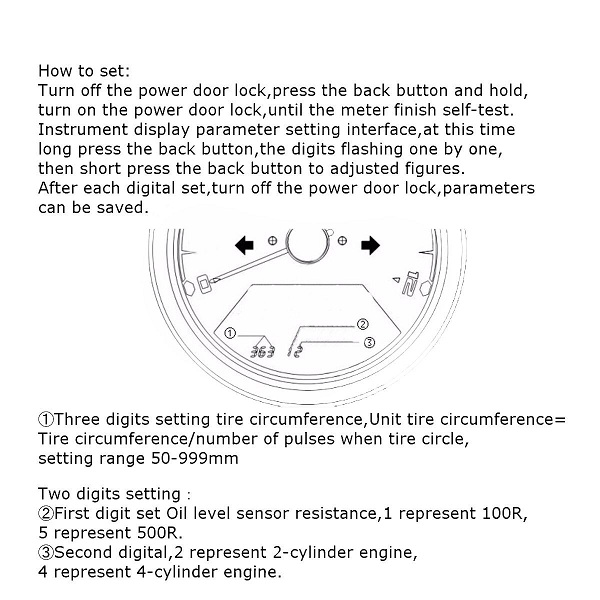 motorcycle tachometer wiring diagram 12000rmp motorcycle lcd digital odometer speedometer ...