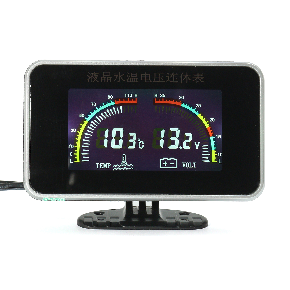 Buy 12/24V Car Universal LCD 2 in 1 Gauge Electronic Digital Gauges