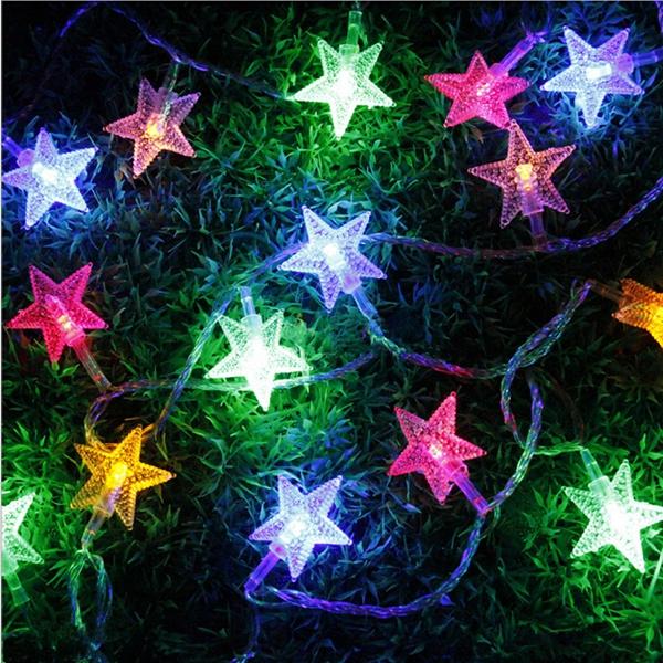 28led 5m multi color christmas string lights xmas party string fairy star light - Star Lights Christmas