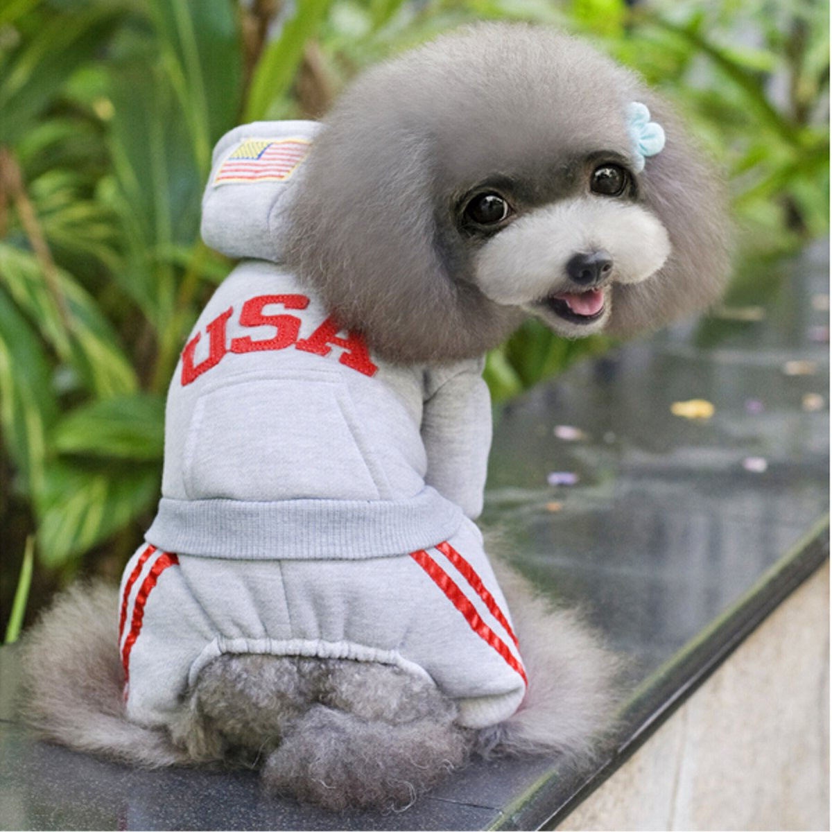 Pet Puppy Dog Clothes Winter Warm Jacket Coat Clothes ...