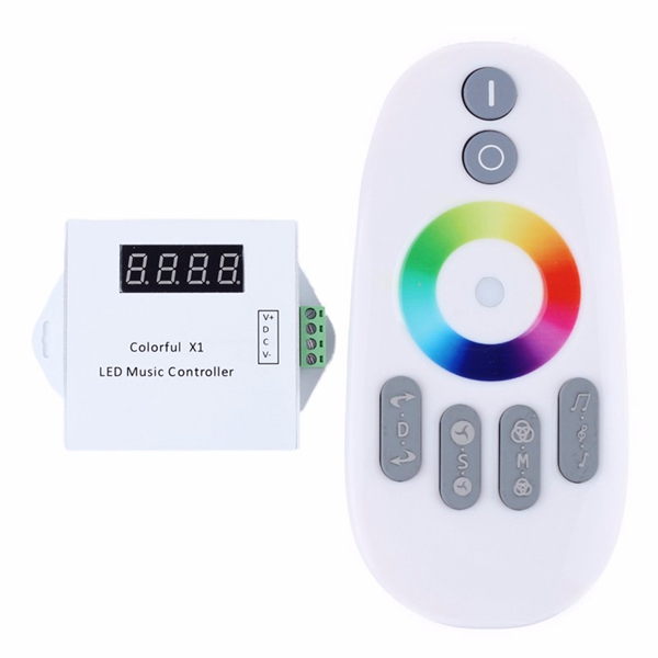Buy WS2811/WS2812B/USC1903 LED Digital Music Controller with RF Touch Remote DC5-24V for RGB Strip Light