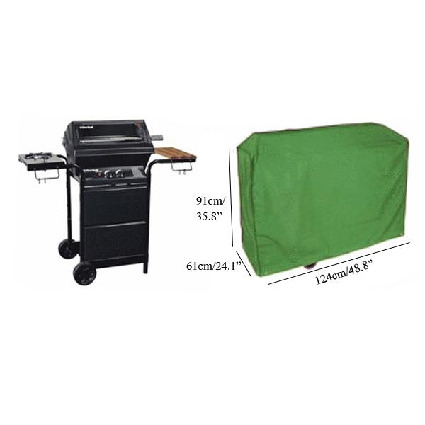 barbecue grade verde água cobertura à prova de proteção grade do gás saco churrasco