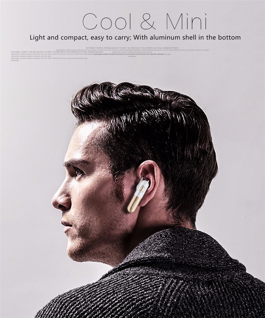 USAMS LO Series US-LO001 Sport Hands-free Unilateral V4.1 Bluetooth Earphone With Mic