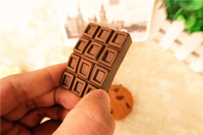 Squishy Cracking Chocolate Bar : Squishy Crack Chocolate Bar Biscuit Cracker 5.5x1x6cm Sound With Packaging Collection Gift Decor ...