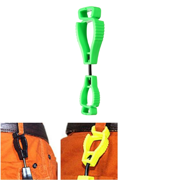 Plastic Clip Worker Gloves Guard Labor Work Clamp Safety Bracket AT-1Type