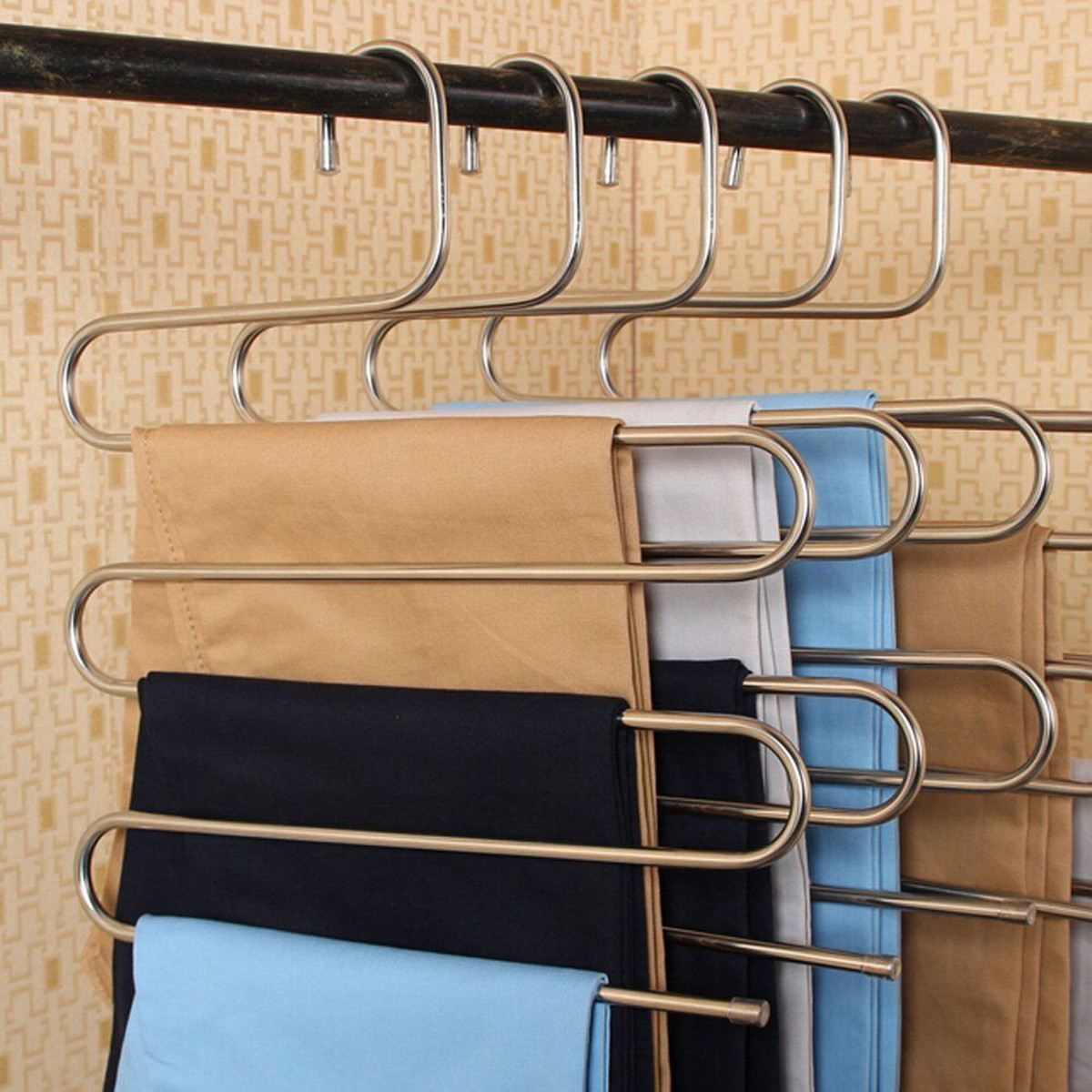 S Type Clothes Pants Trouser Hanger Multi Layers Storage ...