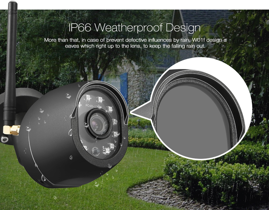 Digoo DG-W01f Cloud Storage 3.6mm Lens 720P Waterproof Outdoor WIFI Security IP Camera 25m IR Distance Motion Detection Alarm Support Amazon Web Service Onvif Monitor