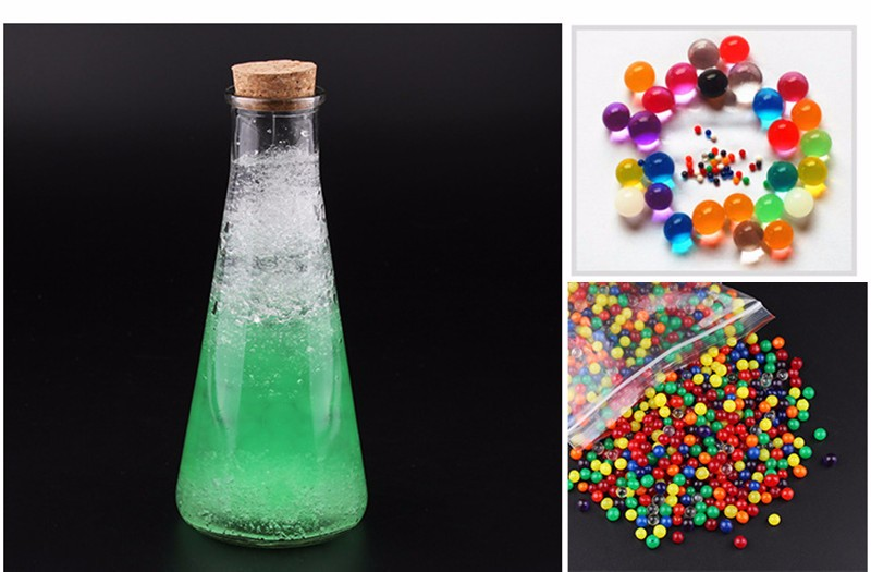 DIY Ocean In A Bottle Rainbow Bottle Expandable Water Balls Colorful Sea Bottle Grow In Water Toy - Photo: 9