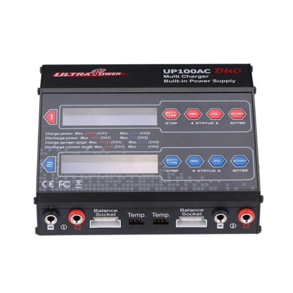 Ultra Power UP100AC DUO 100W LiPo/LiFe/NiMH Battery Balance Charger Discharger