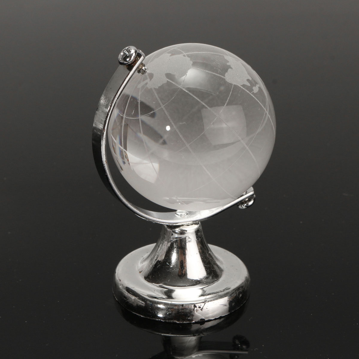 new crystal glass globe paperweight desk decoration clear mapping office gift ebay. Black Bedroom Furniture Sets. Home Design Ideas