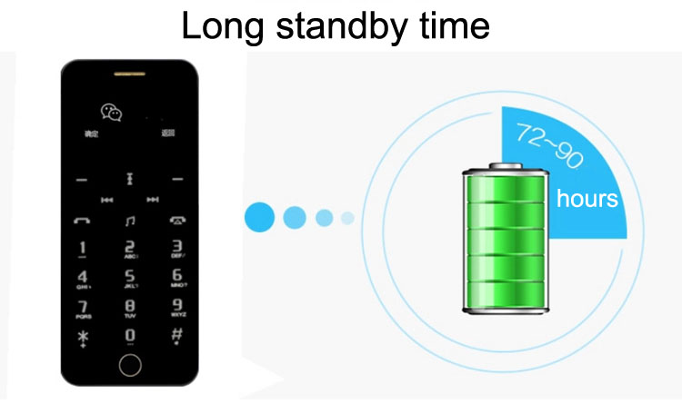 Anica A9+ Ultra-thin Dual SIM Bluetooth MP3 680mAh Remote Control Mini Card Phone