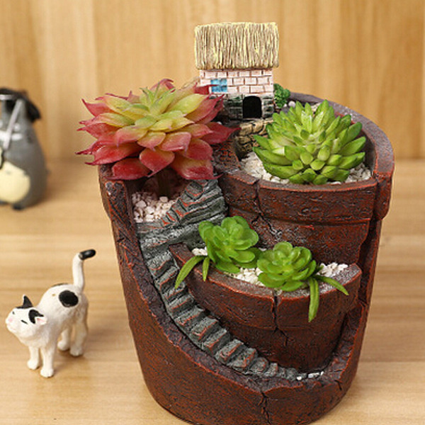 Plants For Tiny Pots: Hanging Garden Potted Micro Landscape Meat Plant Pots