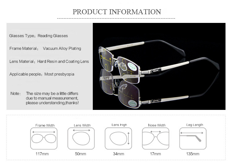 731801ba36 Eyewear - KCASA Intelligent Reading Glasses Anti UV Progressive ...
