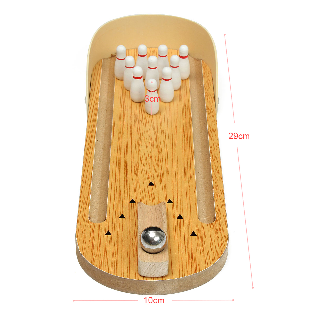 Mini Wooden Bowling Children Toys Educational Toys  - Photo: 3