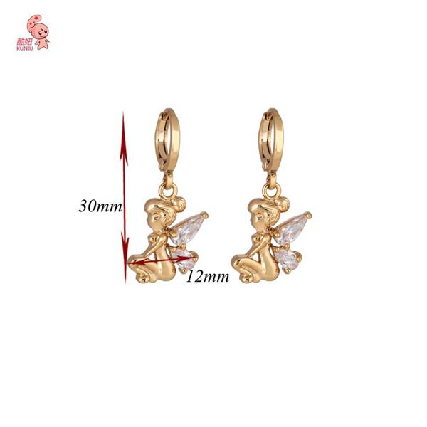 Kuniu White Zircon Crystal Fairy Dangle Drop Earrings Women Jewelry