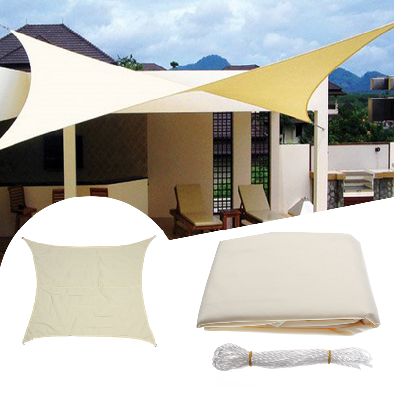 2.4M/8ft Square Sun Shade Sail UV Water Resistant Canopy Patio Garden Tent Awning SKU902906