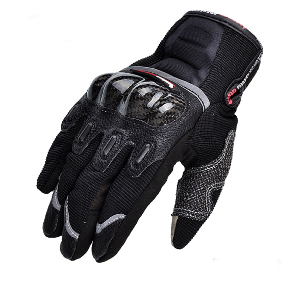 Motorcycle Full Finger Gloves Touch Screen Carbon Fiber For Dirt Bike Racing Cycling MAD-03